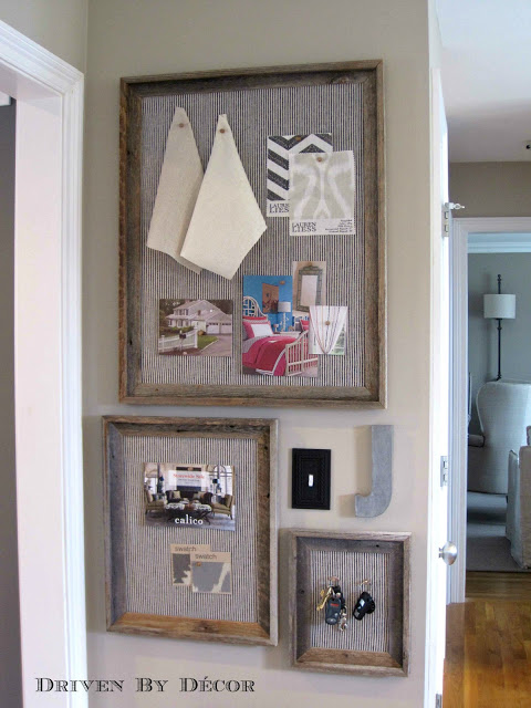 Diy restoration hardware bulletin board driven by decor for Linen cork board