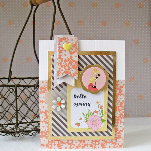 Kathy Martin Chickaniddy Twirly Girly card