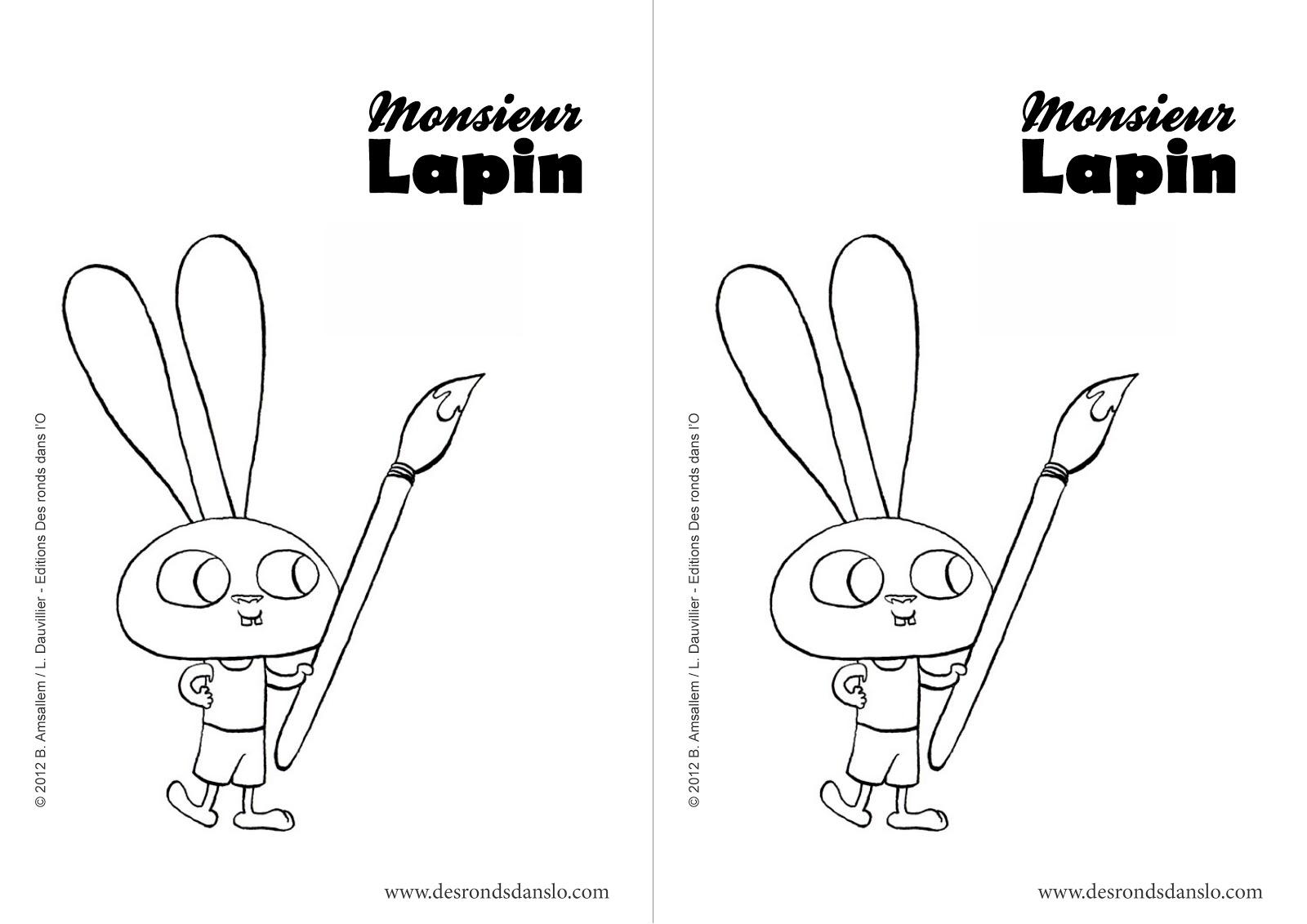 coloriage lapin à imprimer - Coloriages Coloriage lapin en ligne Allofamille