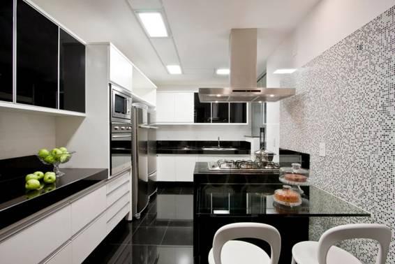 Escolhendo os revestimentos para cozinha  Decor Alternativa # Azulejo De Cozinha Preto E Branco