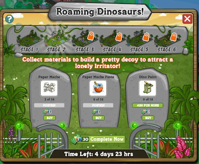 FarmVille Roaming Dinosaur Stage 2 Requirements