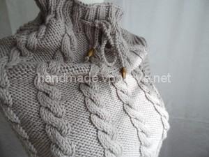 вязание спицами, снуд