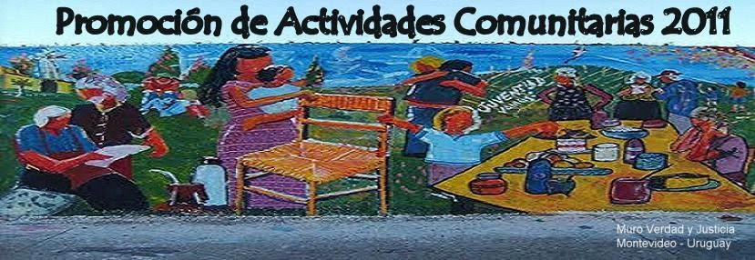 Promocion de Actividades Comunitarias 2011