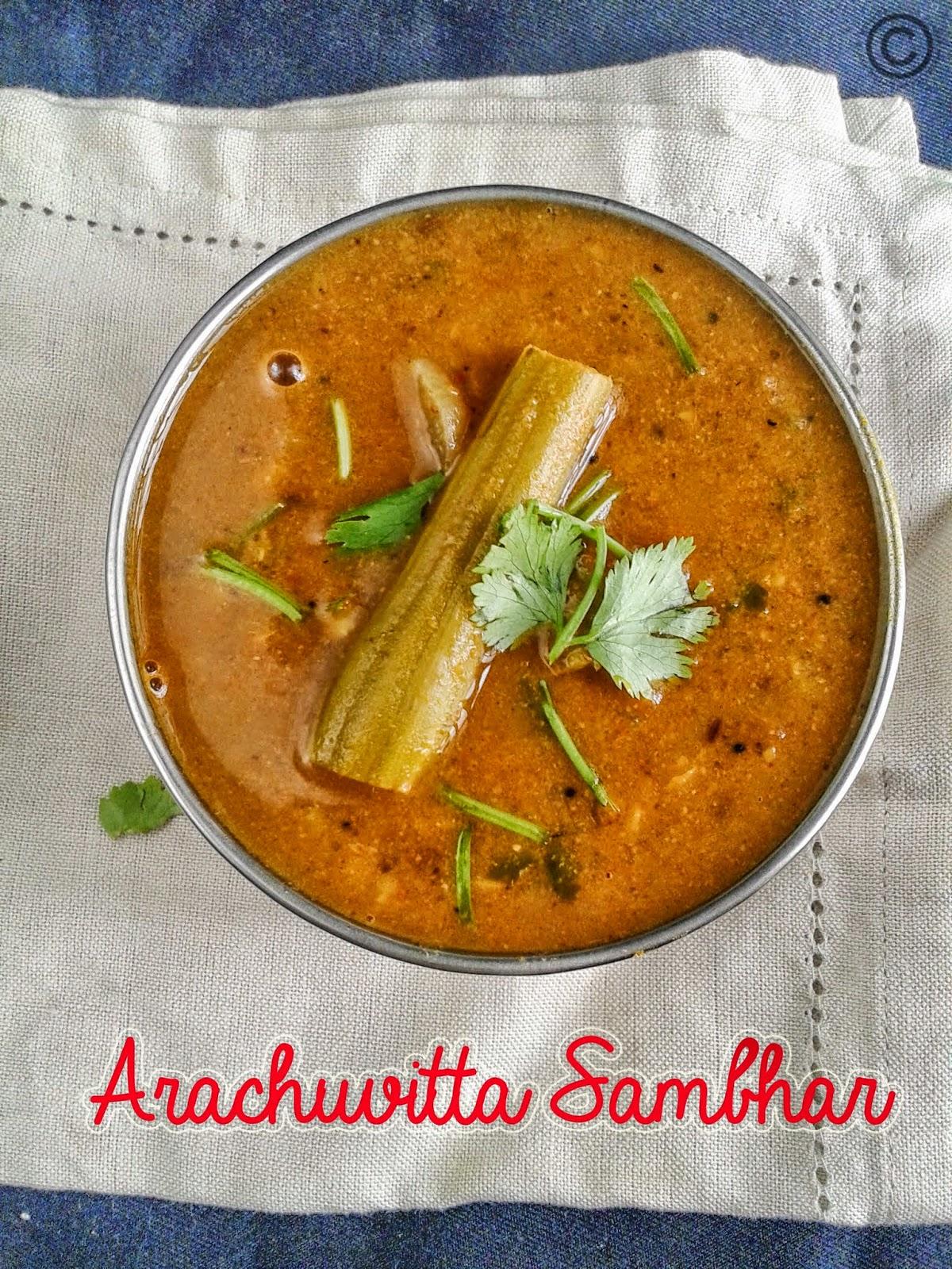 varuthu-aracha-sambhar