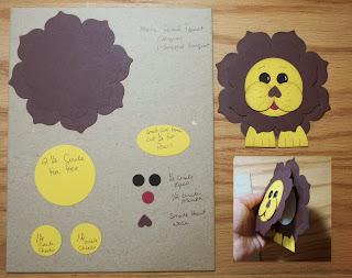 Punch Art Lion made with Stampin'UP!'s Floral Frames Framelit Dies
