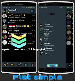 Mod BBM Flat Simple 2.8.0.21 Flicker badge notif (new icon)