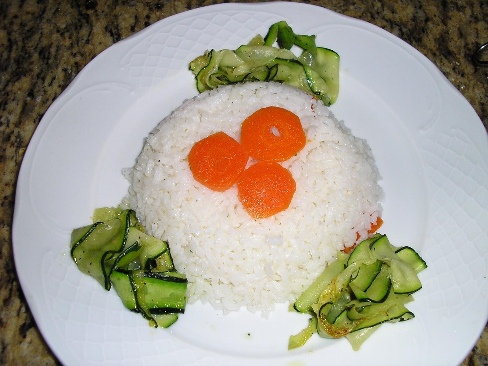 Cocina con monica arroz blanco con calabacin y zanahoria - Comidas con arroz blanco ...
