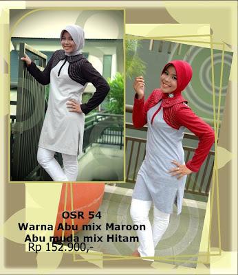 Model Baju Kaos Muslim Osmoes Abu Mix Maroon Abu Muda Mix Hitam