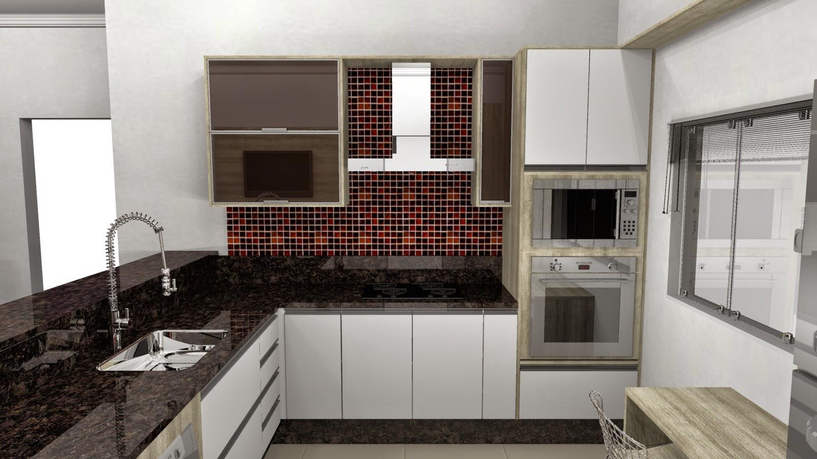 #5F4740  de cor e como o marido queria colocar tons de vermelho na cozinha 1600x900 px Projeto De Cozinha Pequena Linear_4743 Imagens