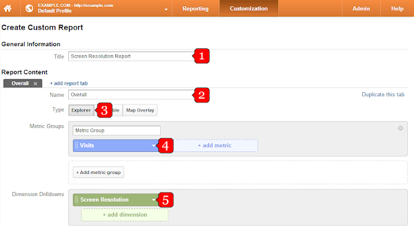 Google Analytics screen resolution report setup (1)