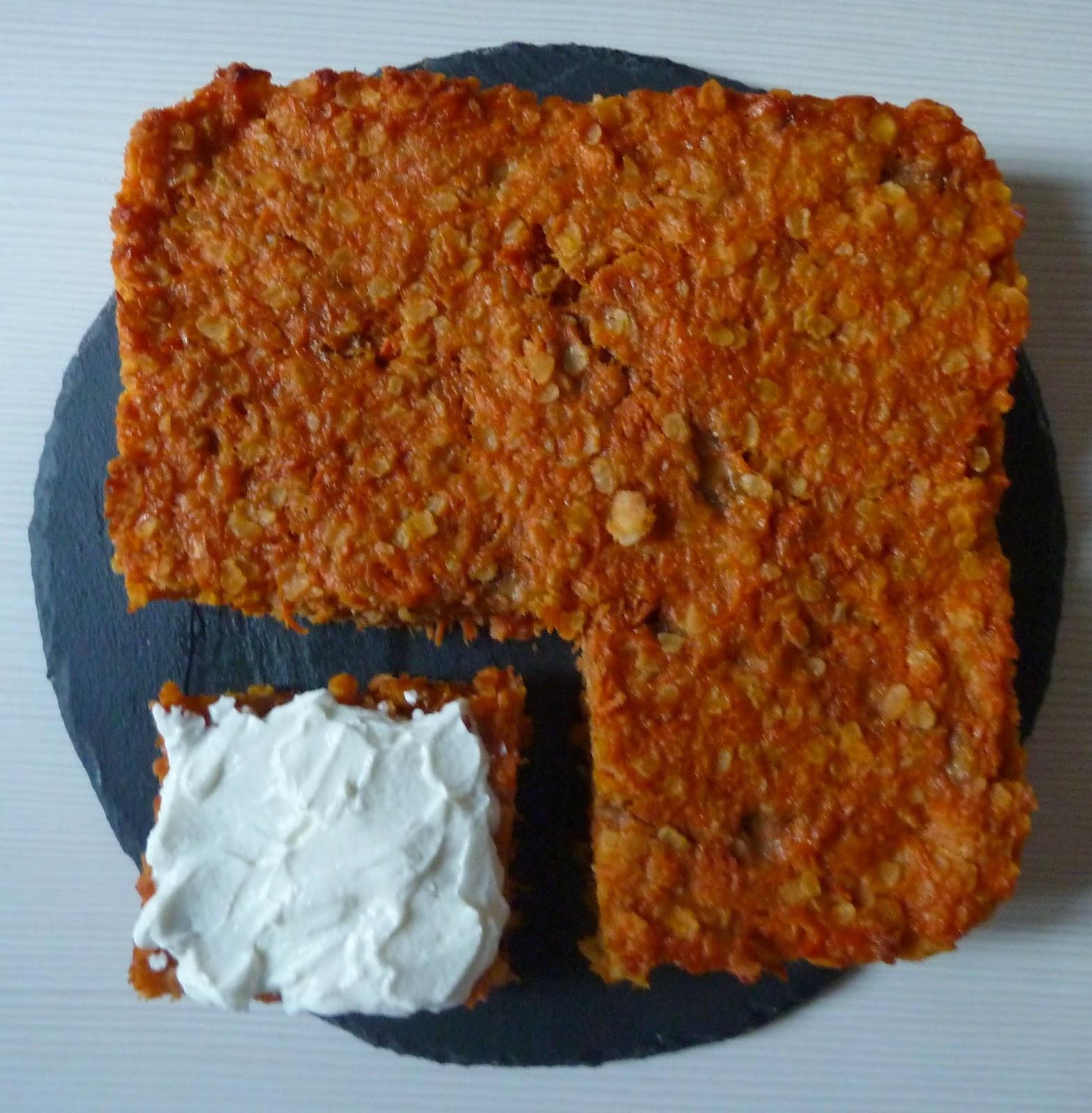 Gâteau banane-carotte {sans lait}
