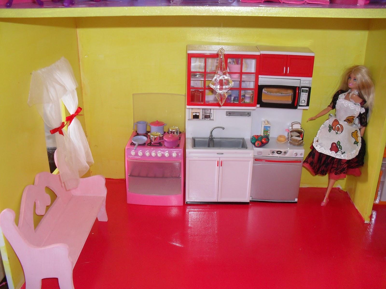 quem te pintou?: A Casa de boneca da Milena onde moram suas Barbies #B81329 1600 1200