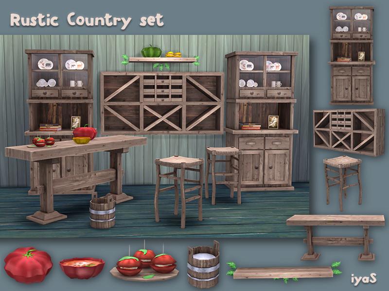 Contenido personalizado para sims 4 set de muebles for Mods sims 4 muebles