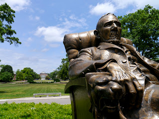 Statue of Duke on his namesake college campus