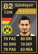 Ilkay Gundogan (IF1) 82 - FIFA 12 Ultimate Team Card