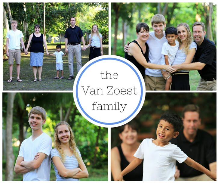 Welcome to the Van Zoest family blog