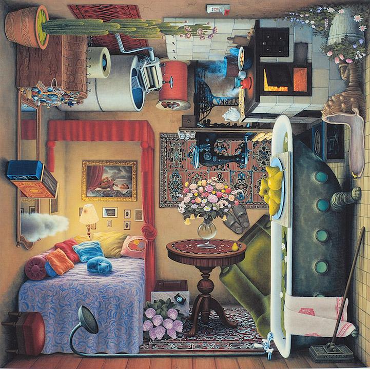 Pinturas surreais revelam cenas coloridas em todos os lados | Hztinha