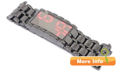 LED Watch Iron Samurai Mirror