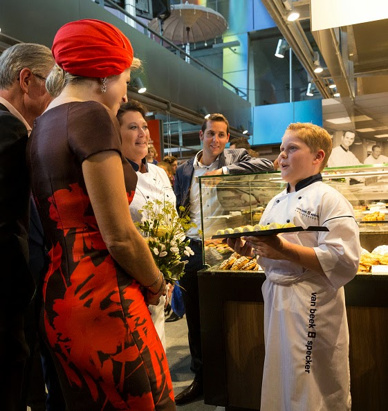 Queen Maxima of The Netherlands attends the opening of the new Markthal on 01,10.2014 in Rotterdam, Netherlands.