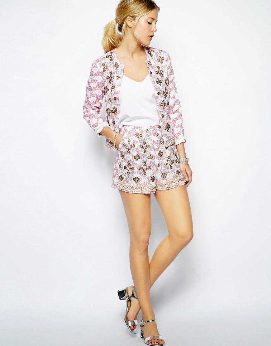 asos pink shorts