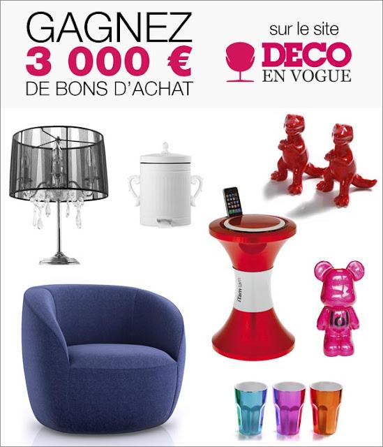 30 bons d'achat de 30 euros sur le site Déco en vogue