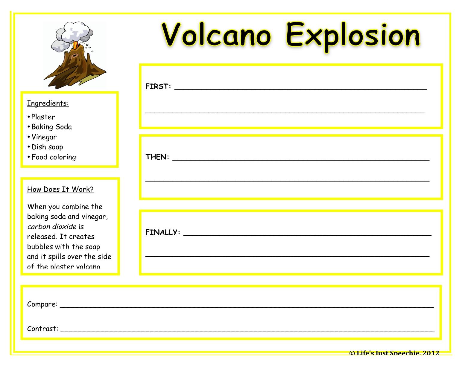 Life Is Just Speechie Quick Update Volcano Success – Volcanoes Worksheets