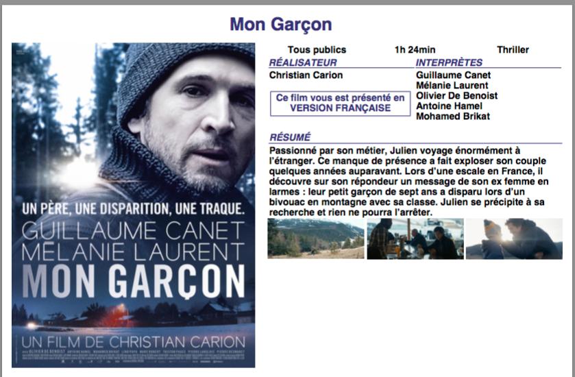 MON GARÇON