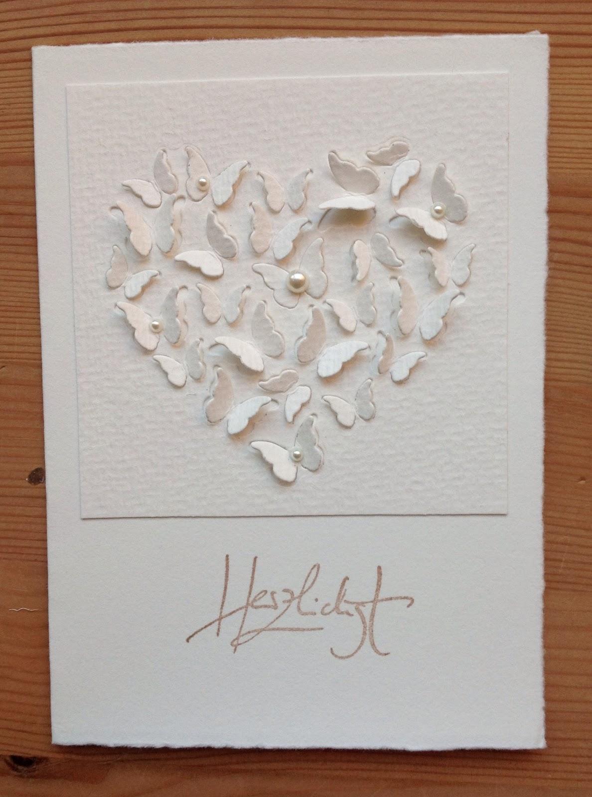 Memory Box Stanzform Herz & Schmetterlinge, Schriftstempel Alexandra Renke