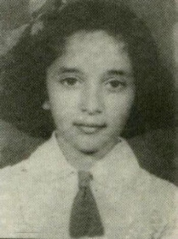 Madhuri Dixit At Her School Age