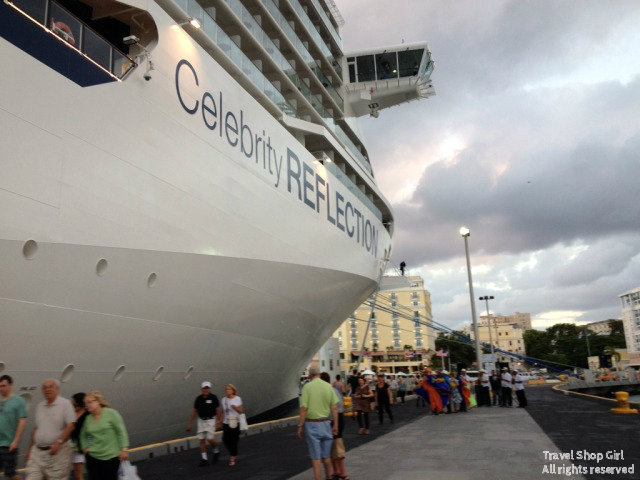 Celebrity Reflection in port in San Juan, Puerto Rico