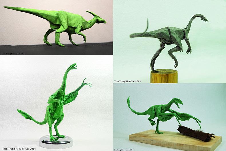 Magistral dinosaurio y criaturas Origami por Adam Tra POPPICTURE