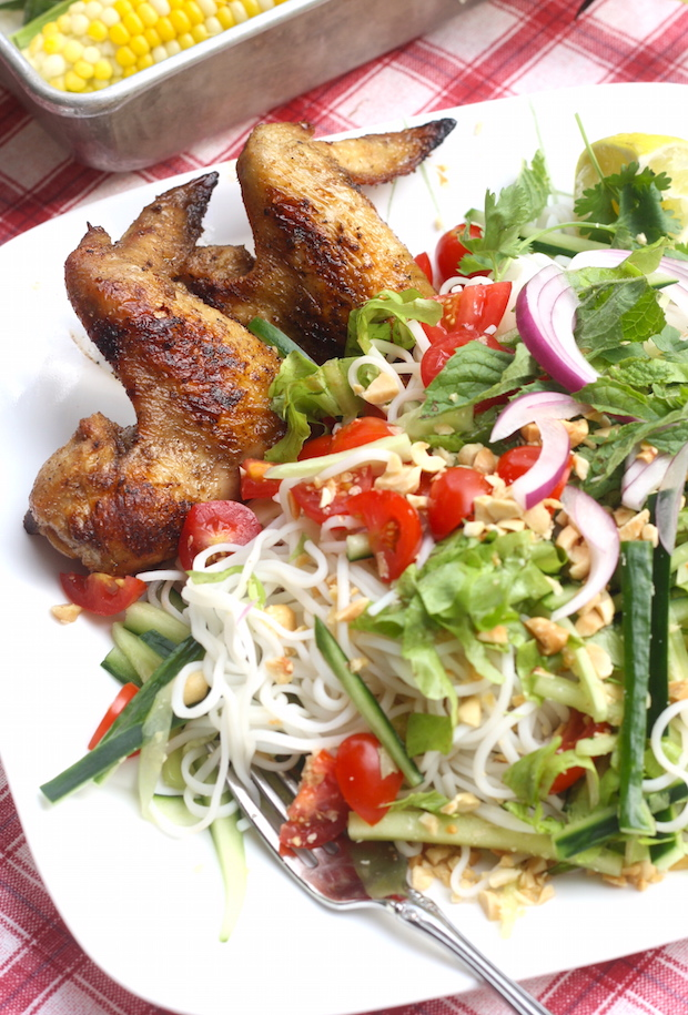 Thai Grilled Chicken Wings with Chili-Garlic Sauce recipe by SeasonWithSpice.com