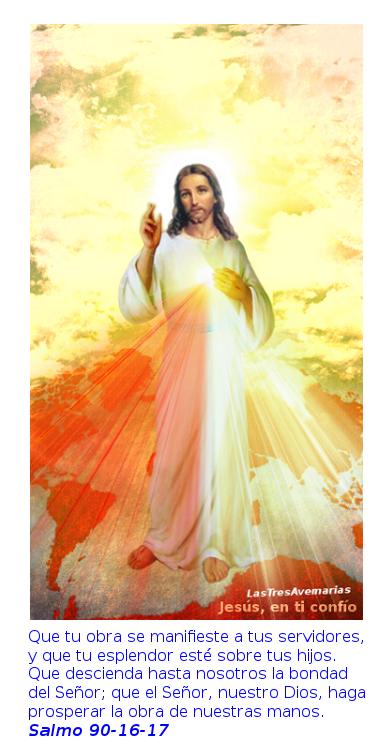 jessu misericordios, divina misericordia con salmo 90