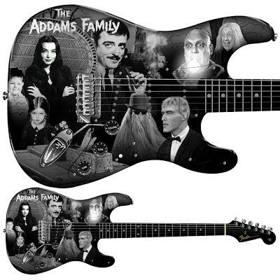 Addams Family Stratocaster by Pamelina H