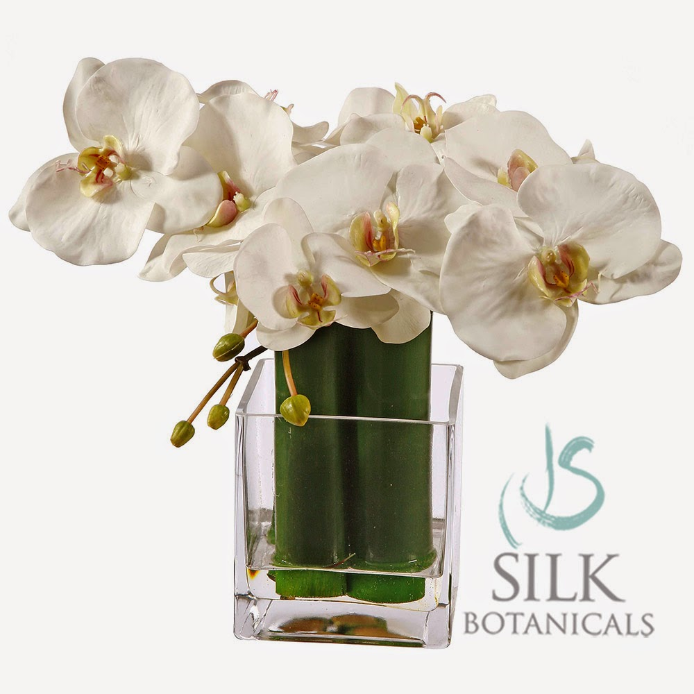 Jane Seymour Botanicals orchid arrangement WP9118-WH
