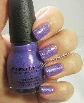 SinfulColors Crystal Crush Purple Gleam Swatch
