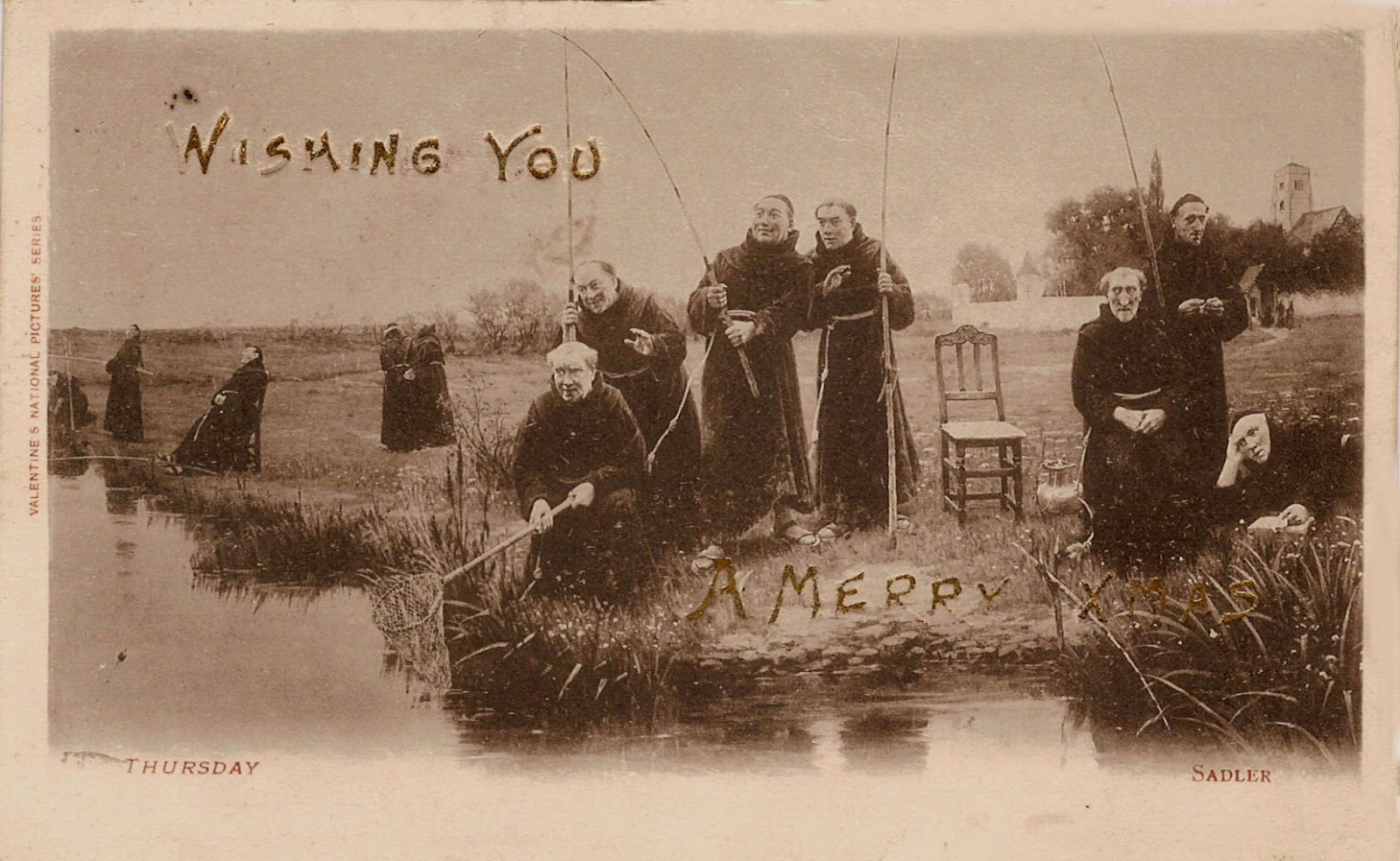 The Lothians A Gallery Of Edwardian Christmas Cards Part