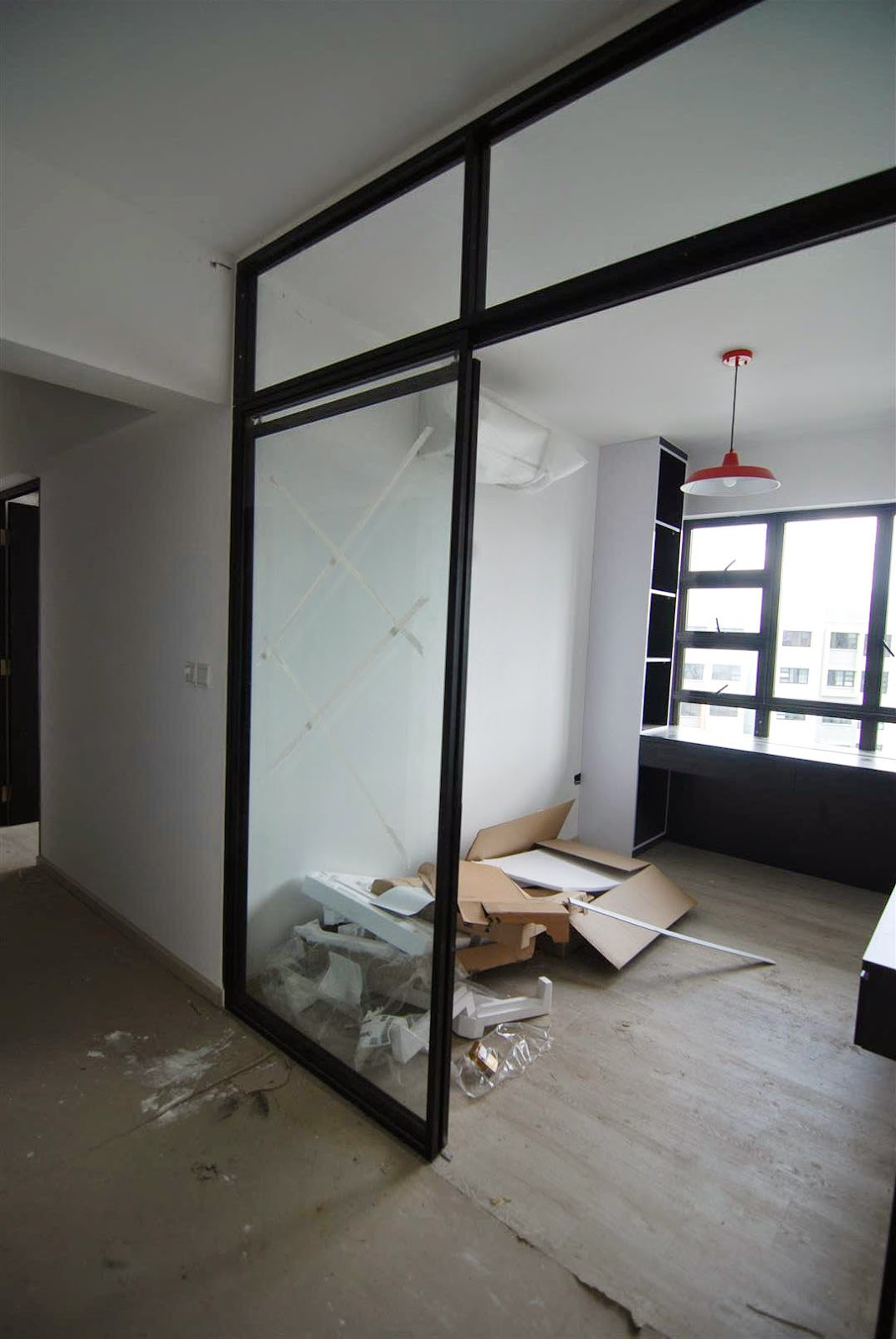 Butterpaperstudio reno yishun riverwalk study room for Room door frame