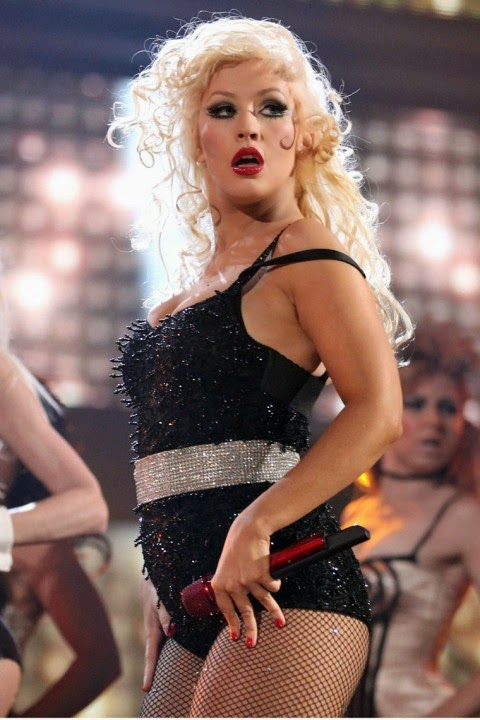 christina aguilera at the american music awards