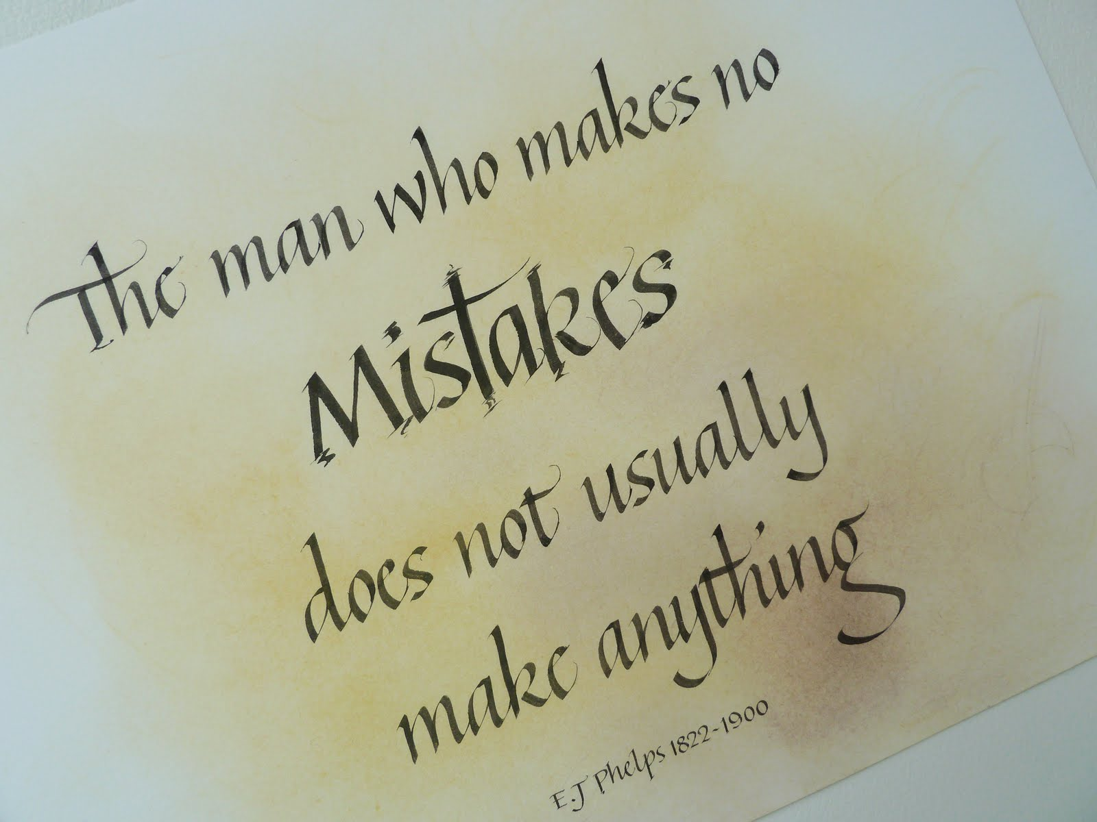 Calligraphy Quotation - Quote of the Day *16th April 2013*