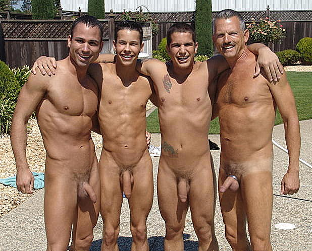 Men Enjoying Nudity