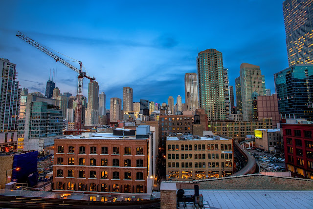 Chicago at Blue Hour HDR