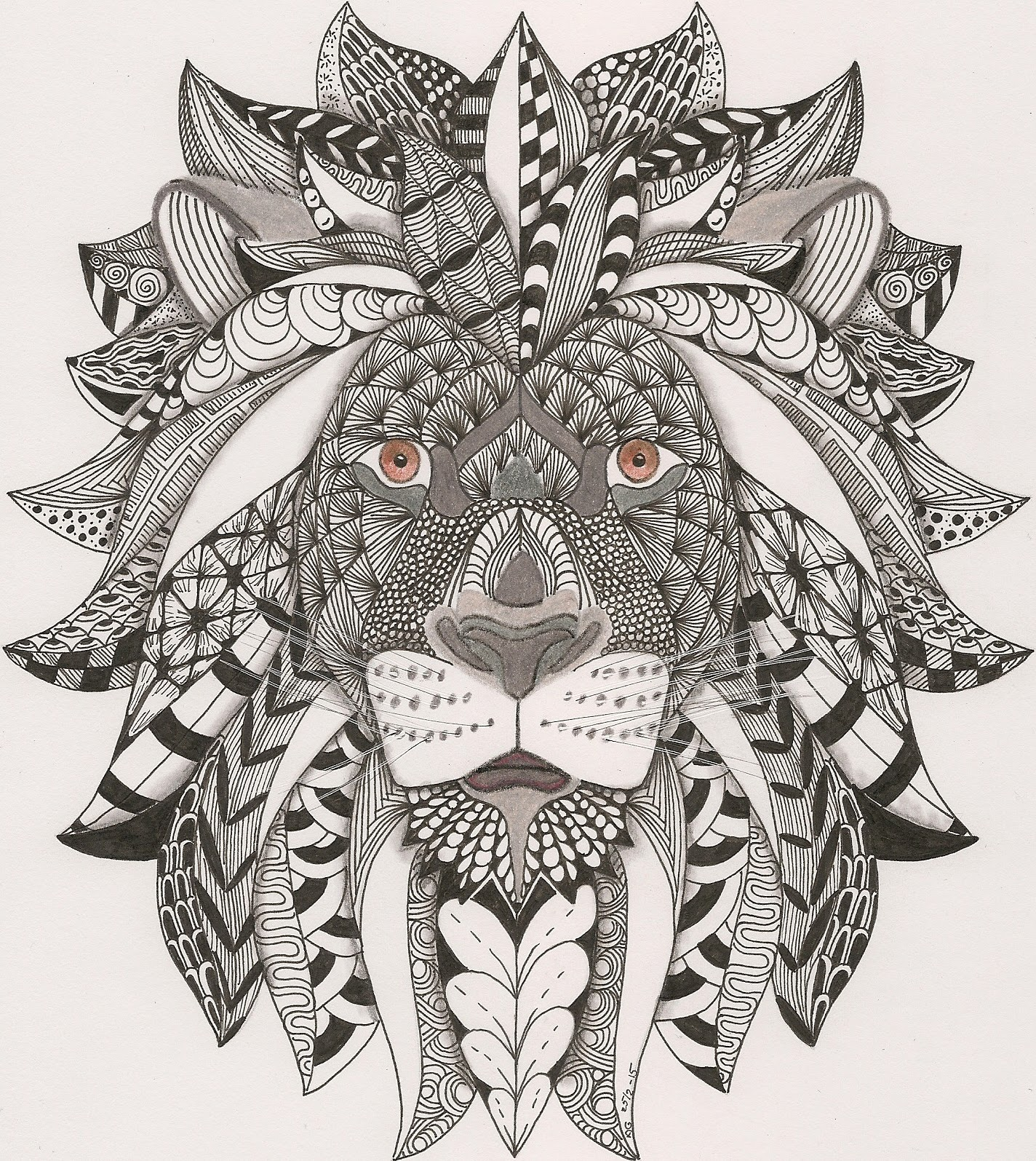 1000 Images About Zentangle Animals Dibujos