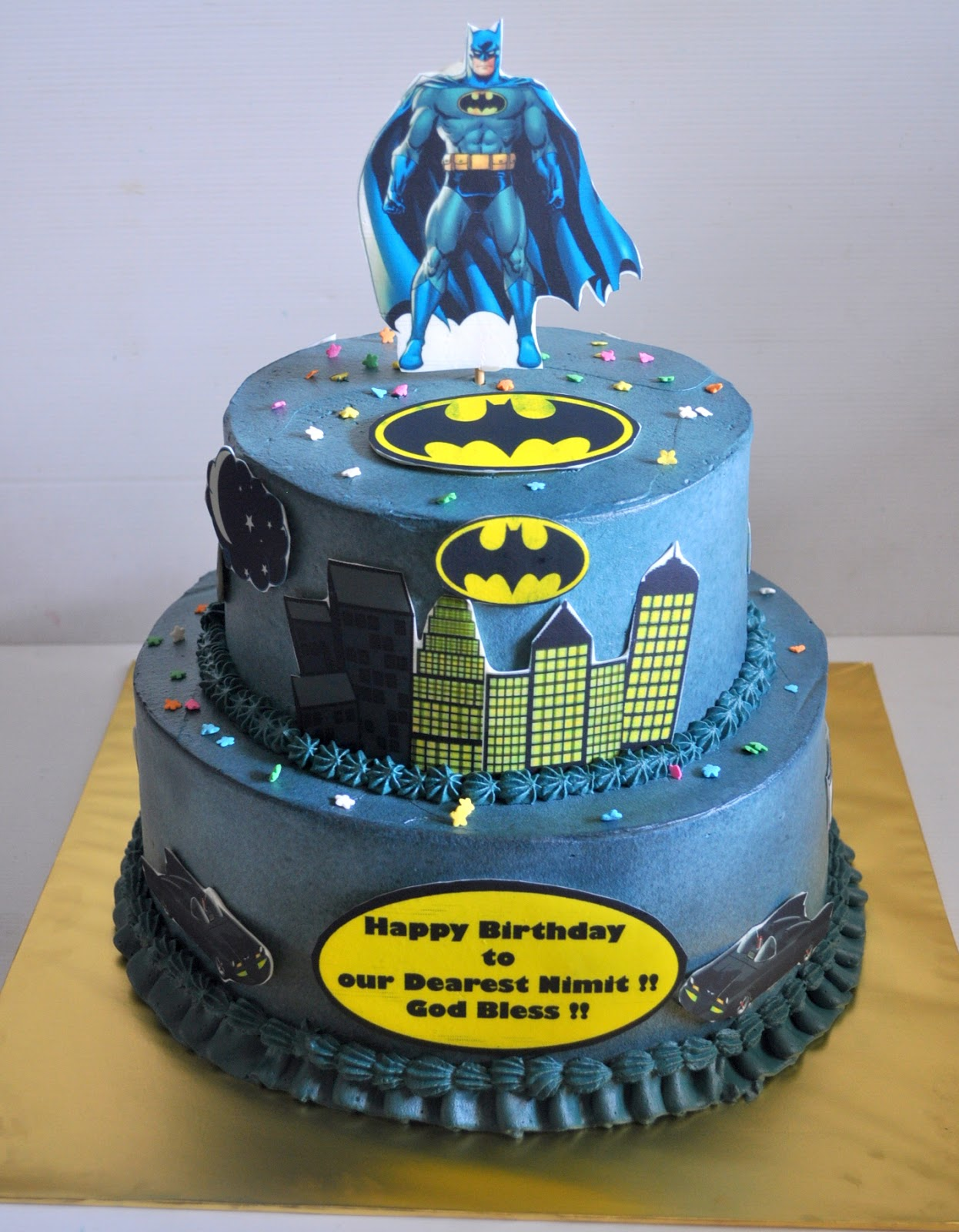 Izahs Kitchen Batman Theme Cake
