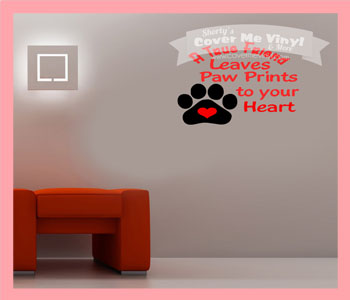 True Friend Paw Wall Decal