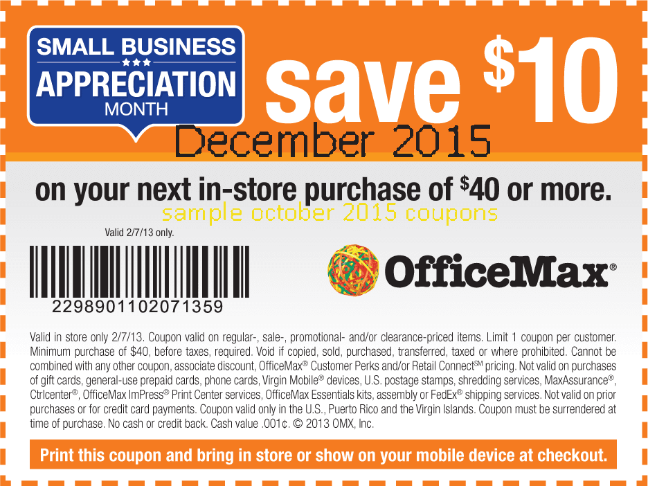 Officemax coupon codes