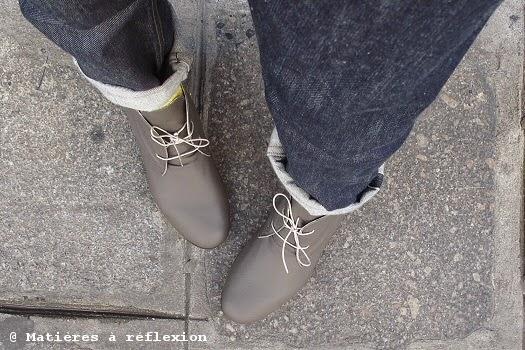 Chaussures Anniel homme en cuir gris
