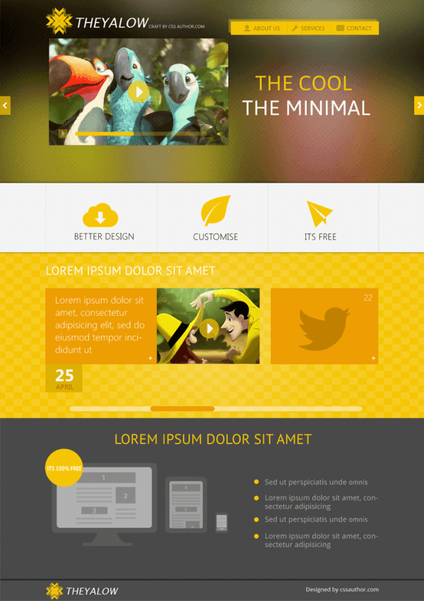 Web Design Template PSD