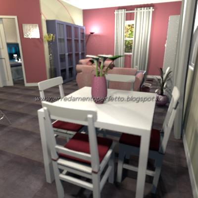 consigli d'arredo: il blu per arredare la cucina soggiorno moderna - Soggiorno Bianco E Blu