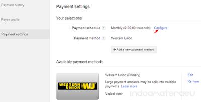 Payment AdSense